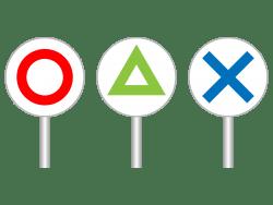 ○評価と三角評価、×評価のどれだろうかというイメージ画像