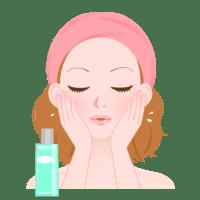 美容液を塗っている女性の画像