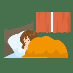 睡眠ダイエット中の女性の画像