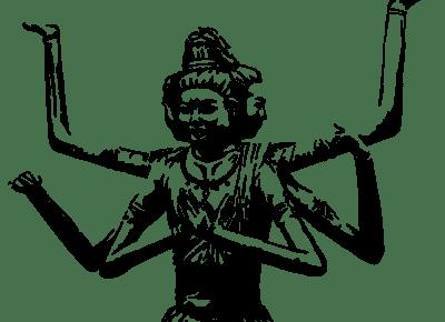 一般的な阿修羅のイメージ