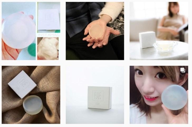 フフキュアやさしい石鹸はインスタ、ツイッター、フェイスブックなどSNSで大注目!