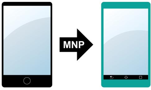 MNP予約番号を発行しMNPするイメージ画像