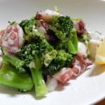 [レシピ]タコとブロッコリーのガーリックマヨ炒めの作り方