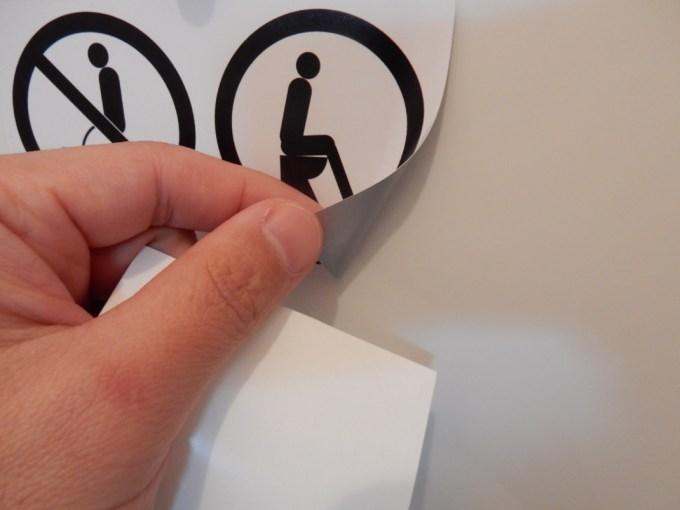 トイレマナーのステッカー2