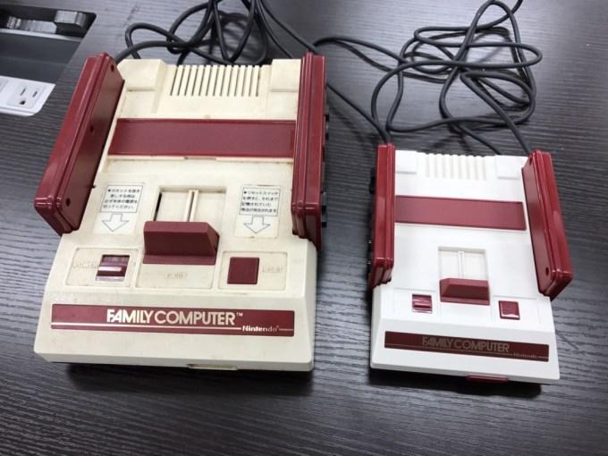 初代ファミコンと大きさ比較 画像引用元:http://getnews.jp/