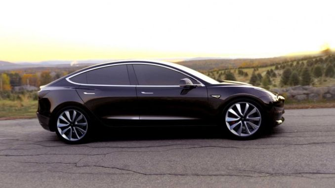 awd tesla model 3 available in July