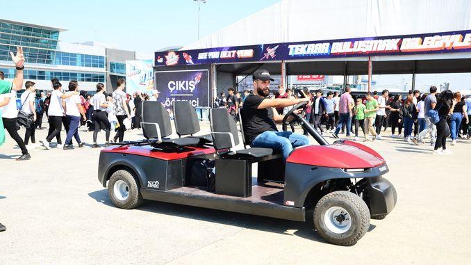 vice president fuat oktay toured with technofesti tragger t car 1