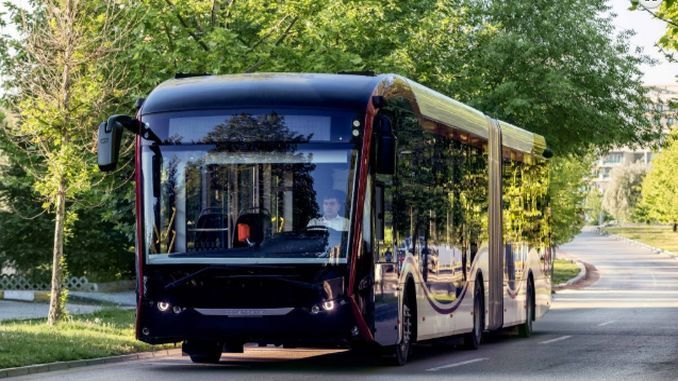 domestic national electric bus sileo 4 is driving 400 km with hourly charge