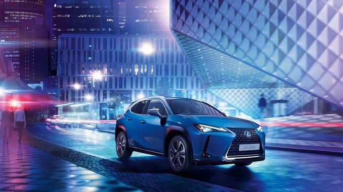 new lexus ux e electric suv at the international auto show in guangzhou