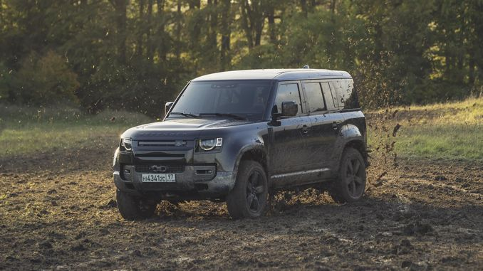 new land rover defender this time james bondun goes through the tough test