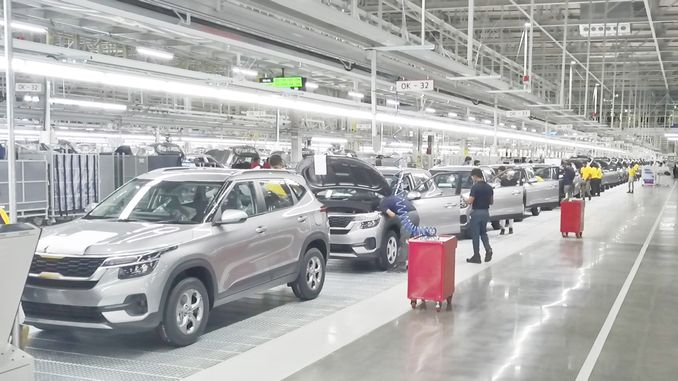 kia opened third production center in india