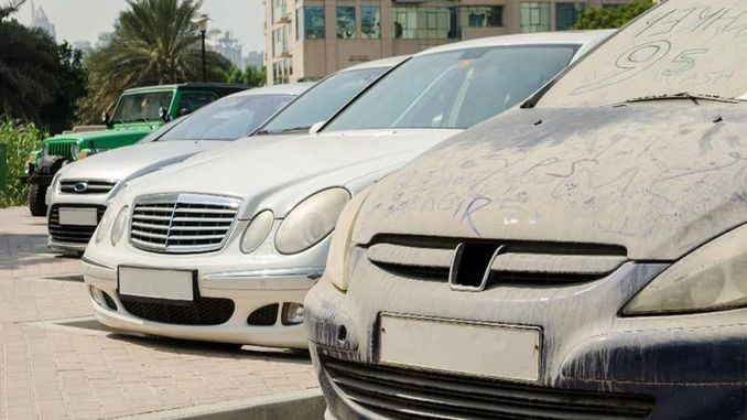 Dubai municipality to sell dirty vehicles on street