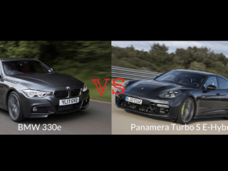 Panamera Turbo S E-Hybrid competes with the BMW 330e Only Electric Motors