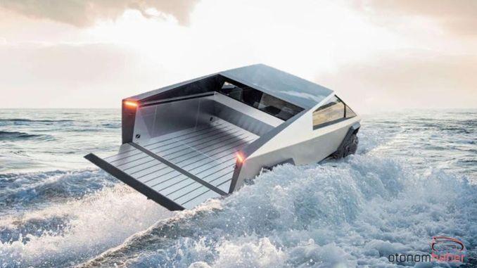 Elon Musk Says Tesla Cybertruck Model Can Swim