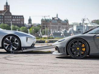 Koenigsegg Gemera ja Polestari ettekirjutuse kontseptsioonimudelid kuvatakse samas kaadris