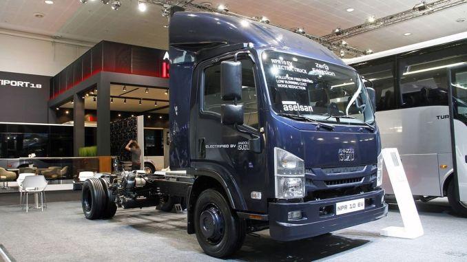 Produced in Turkey, Anadolu Isuzu NPR10 first domestic EV Electric Vehicle