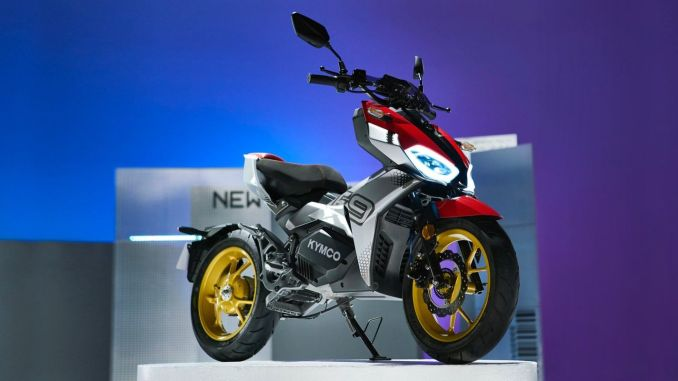 kymco introduces the motorcycle with two-speed automatic transmission