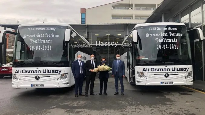 ali osman ulusoy travel received the first vehicle of the mercedes benz bus order