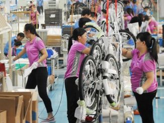 Bicycle production increased by one percent in China, reaching the limit of million