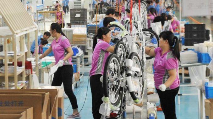 La producción de bicicletas aumentó en un uno por ciento en China, alcanzando el límite de millones