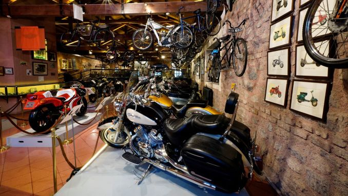 The yearly history of the two wheels is in my womb in my husband's museum