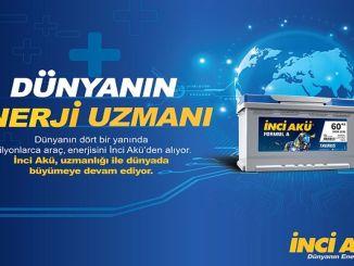 تم اختيار İnci Aku كعلامة تجارية للبطاريات الأكثر قيمة في تركيا.