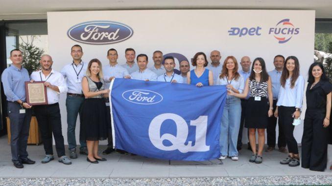 Ford q quality certificate for opet fuchsun mineral oil plant in aliaga
