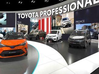 豐田在車展上展示其破紀錄的低排放混合動力車