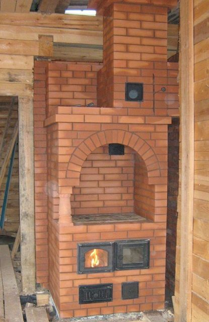 Example of a heating and cooking furnace