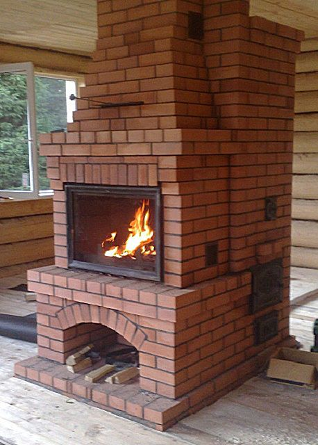 Oven-fireplace