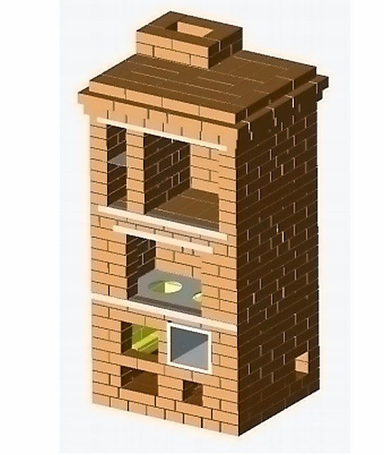 General view of the stove, which should turn out when the scheme appended is applied below