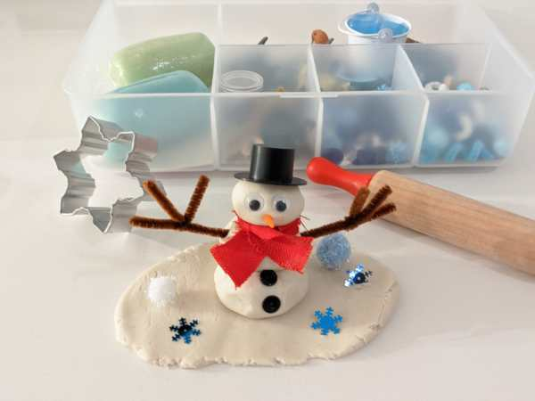 Winter Play Dough Kit SnowMan