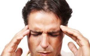 Manden har hovedpine
