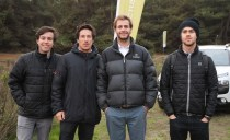 Felipe Azócar, James Obrian, Frederick Pollmann y Francisco Martin
