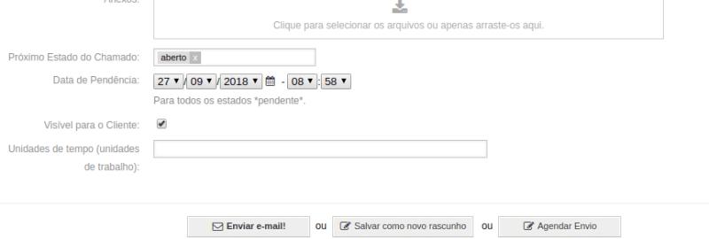 Na parte inferior na aba de envio de resposta, você encontra a opção de agendar o envio