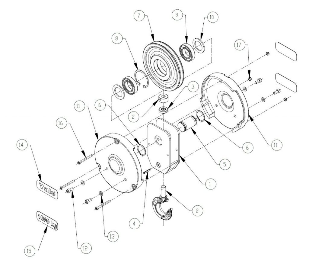 Figure 9 4b Lower Block Assembly S2 Reeved