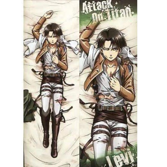 levi from attack on titan body pillow