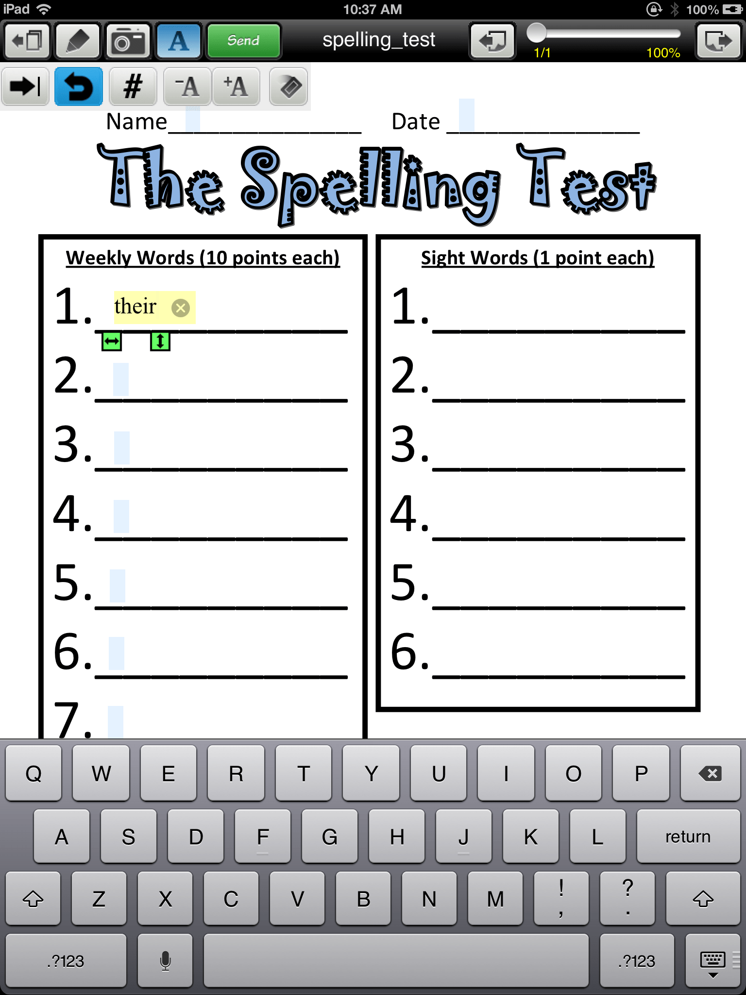 Adapting Worksheets For Students With Poor Handwriting Using Your Ipad
