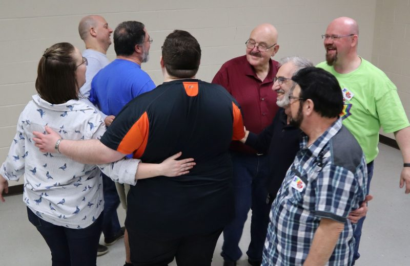 Square dance couples in a star formation