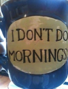 mug: i don't do mornings