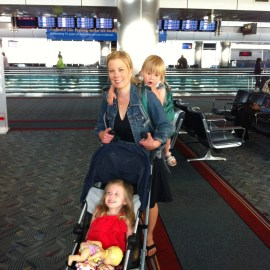 """Elaine and the """"Princesses"""" navigate airports with ease."""