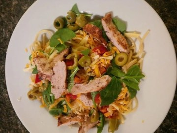Pasta with fun toppings
