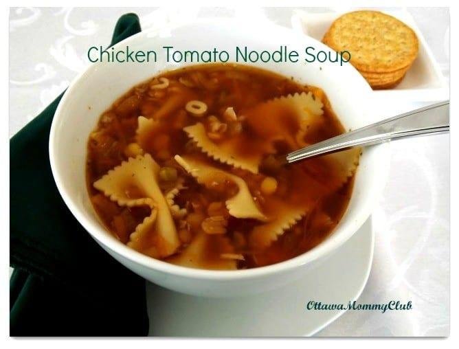 Chicken Tomato Noodle Soup Recipe