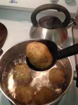 take out potatoes