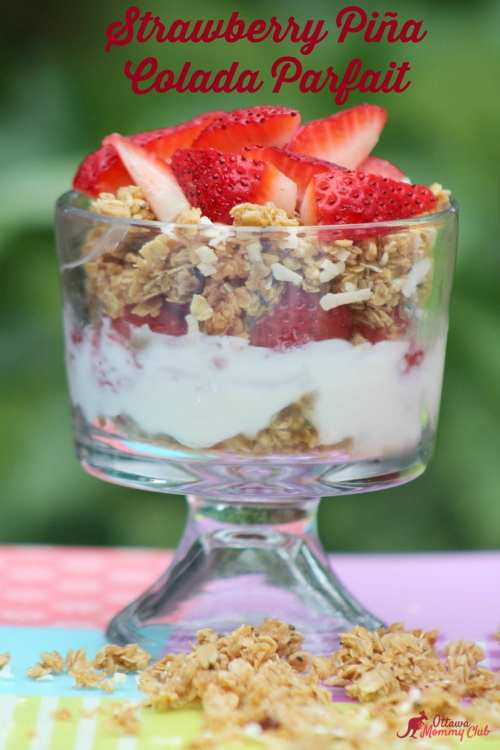 Strawberry Pina Colada Parfait