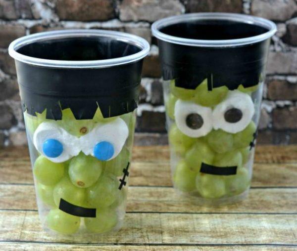 Grapenstein: Halloween Craft and Healthy Snack