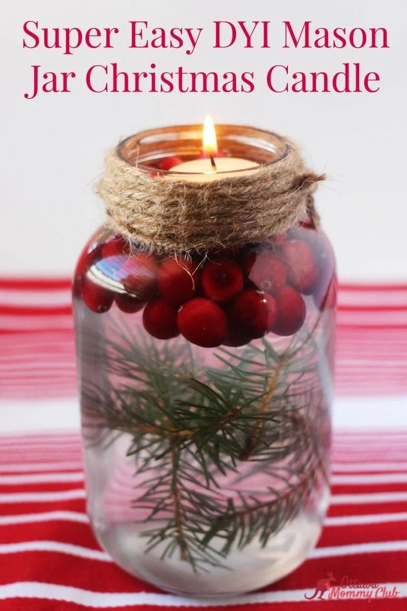 Super Easy Diy Dish Soap 3 Ingredients: Super Easy DIY Mason Jar Christmas Candle