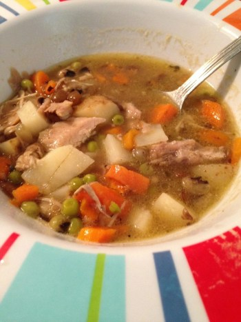left over turkey soup