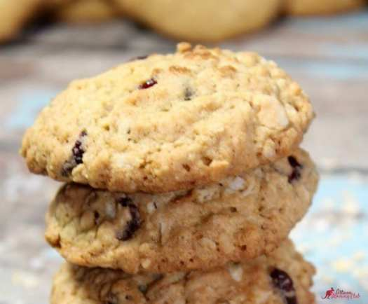 Cranberry Coconut Oatmeal White Chocolate Cookies recipe