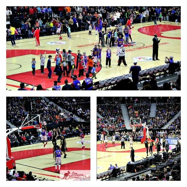 Ottawa Mommy Club Harlem Globetrotters Game Fun Photo